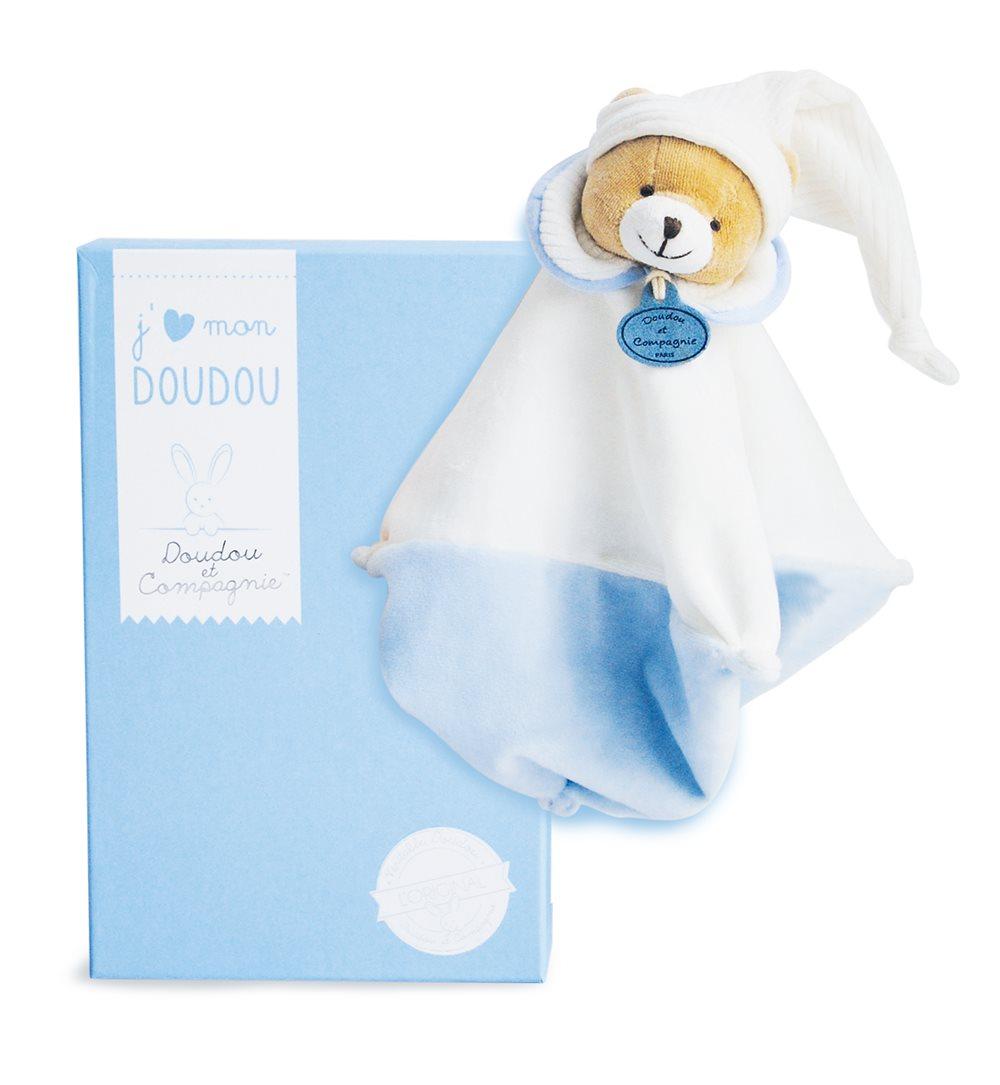 Doudou knuffel blauw