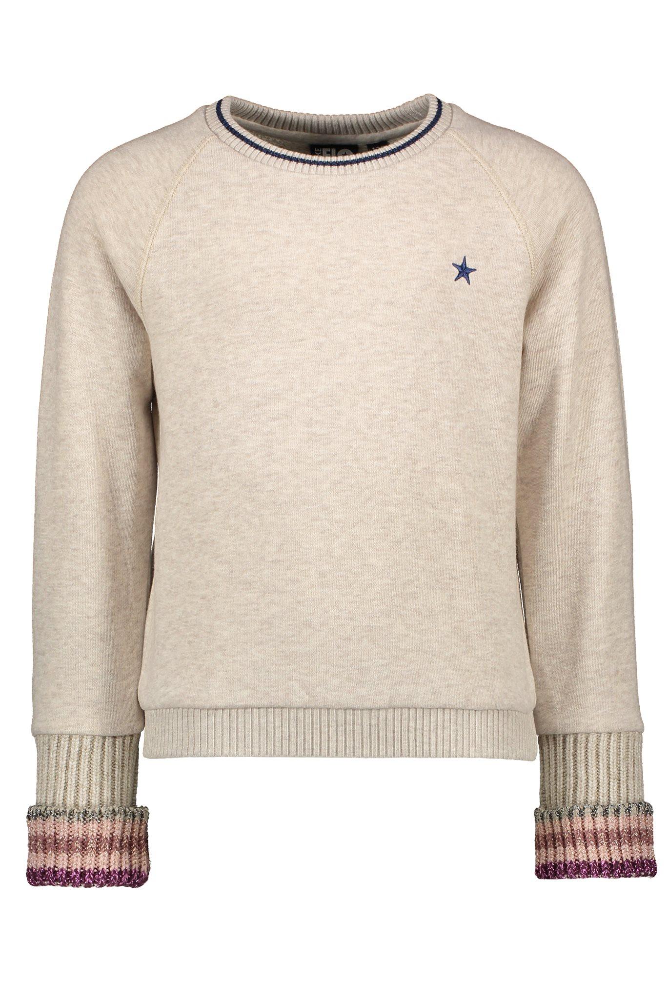 Flo sweater metallic rib cuff