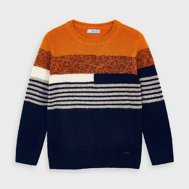 Mayoral knit colourblock sweat