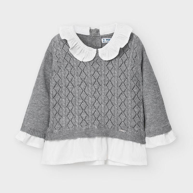 Mayoral knit ruffle sweater