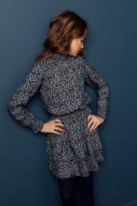 Looxs Blue Leopard  Dress