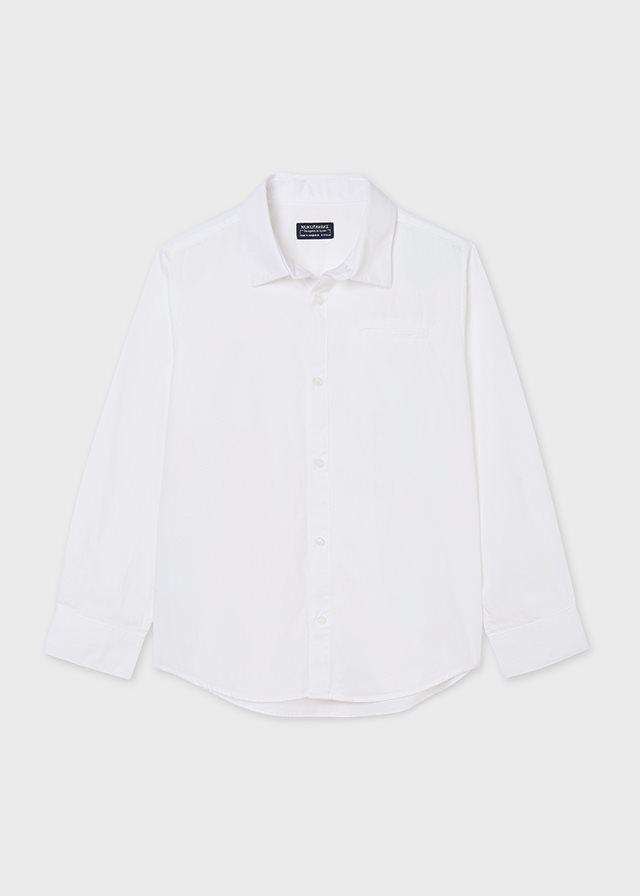 Mayoral basic wit overhemd